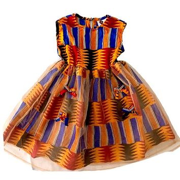 Tisha African Print Girl's Dress