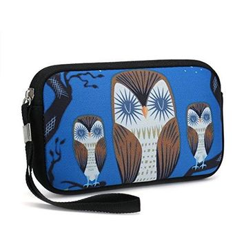 Unisex Portable Washable Travel All Smartphone Wristlets Bag Clutch Wallets Change PursePencil BagCosmetic Bag Pouch Coin Purse Zipper Change Holder With Strap Purple Butterfly