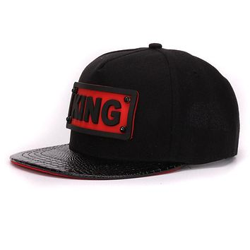 HATLANDER Gator Leather 3D KING Snapback Cap