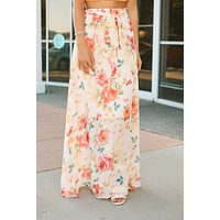 Dream In Color Maxi Skirt (Ivory)