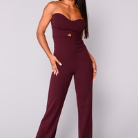 Liv Tube Jumpsuit - Raisin