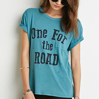 Distressed For the Road Tee