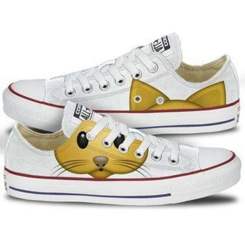 LMFUG7 Converse Cat Emoji Low Top Chucks