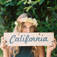 California in Cursive