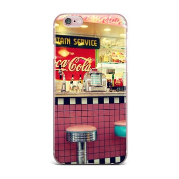 "Sylvia Cook ""Retro Diner"" Coca Cola iPhone Case"