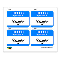 Roger Hello My Name Is - Sheet of 4 Stickers
