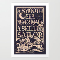 A Smooth Sea Art Print by Kyle Cobban