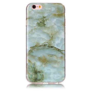 Green Marble Stone Case Cover for iPhone 7 7Plus & iPhone 6s 6 Plus & iPhone X 8 Plus with Gift Box