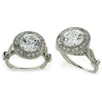 Julia's Sterling Silver Vintage Style CZ Ring