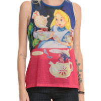 Disney Alice In Wonderland Tea Party Girls Muscle Top