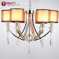 New Modern Iron Crystal Chandelier For Home Ceiling industrial Pendant lamp Hanging Fixture Indoor Lighting Decoration
