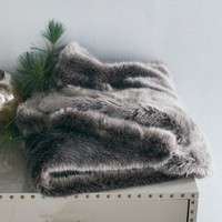 Faux Fur Throw - Pewter