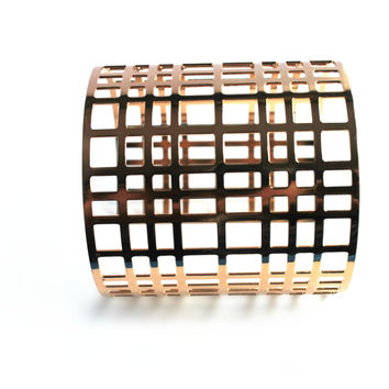 """Enticed"" Gold Cuff Bracelet"