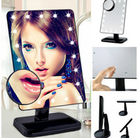 Tablet LED Light Cordless Makeup Vanity Touch Screen Mirror and Magnifier
