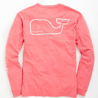 Long-Sleeve Vintage Whale Graphic Pocket T-Shirt
