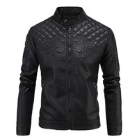 Black Quilted Leather Moto Jacket