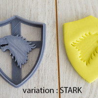 Game of Thrones cookie cutter - game of thrones house emblem cookie cutter