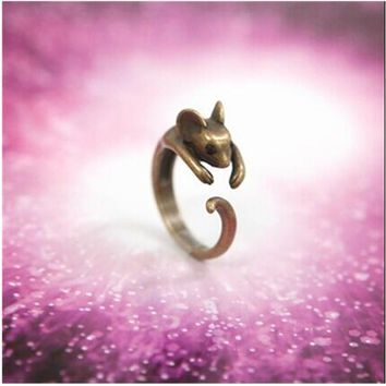 G049 One Direction Ring Bijoux Hot New Parttern 2017 Love Mouse Vintage Bronze Rings For Women Jewelry Accessories Cheap Gift