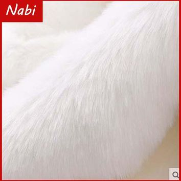 Good quality small piece imitation rabbit fur, Pile 2cm Faux Fur Fabric fur,DIY shoes hats material 50*170cm