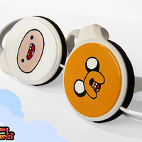 Adventure Time handpainted clip headphones  with by ketchupize
