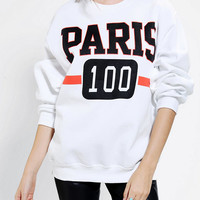 Paris 100 Pullover Sweatshirt - Urban Outfitters