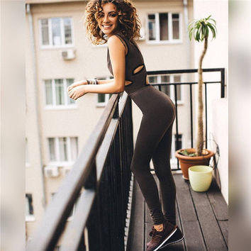 Sports Sexy Women's Fashion Hollow Out Yoga Jumpsuit