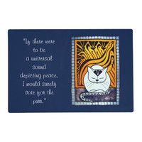 Vote for the Purr White Cat with quotes Placemat