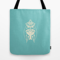 Ghost Beetle Tote Bag by Catherine Holcombe