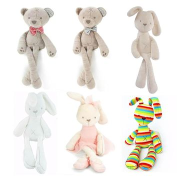 2017 Soft Doll Baby Play Toys Stuffed Toys Animals Plush Rabbit And Cute Plush Giraffe Toys Valentine's Day Gift Rabbit Soft Toy