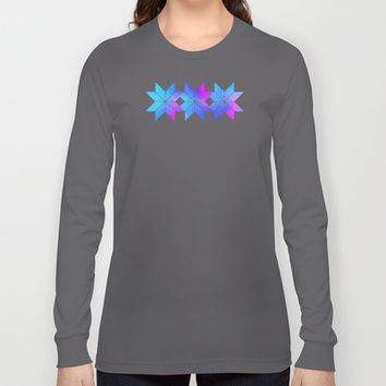 Freya Goddess of Love Long Sleeve T-shirts by Gréta Thórsdóttir #floral  #ikat #pattern #ethnic #zigzag #cobalt #pink