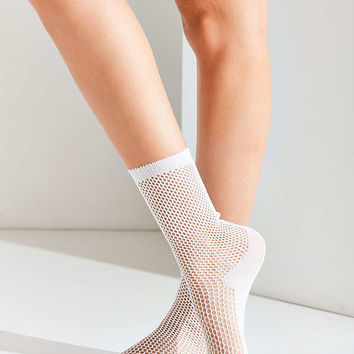 Out From Under Fishnet Crew Sock - Urban Outfitters