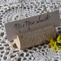 Rustic Wedding Place Card Holders Holiday by vermontbranchcompany