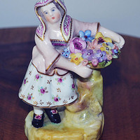 Rare Antique Crown Derby Figurine, Stevenson And Hancock, Old Derby, 1800's