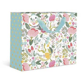 Dots and Floral Medium Gift Bag
