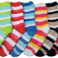 Fuzzy Anti-Slip Grip 6-Pack Socks Soft and Warm  |  The Inspired Idea