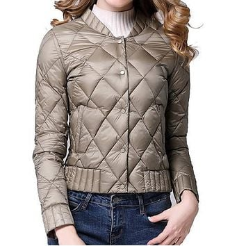 2017 Spring Winter Women Ultra Light Down Jacket Casual Female Portable duck feather Coat Jackets Lightweight Parkas