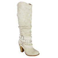 SHOW STOPPER BOOTS IN CREAM