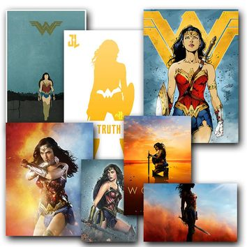Wonder Woman Home Decor Silk Fabric Prints