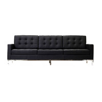 Supper Club 3-Seater Sofa in Black