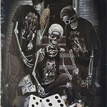 DGA Day of the Dead Deal with the Devil Stretched Wood Frame Canvas Wall Art 12x16 Inches - Last Roll