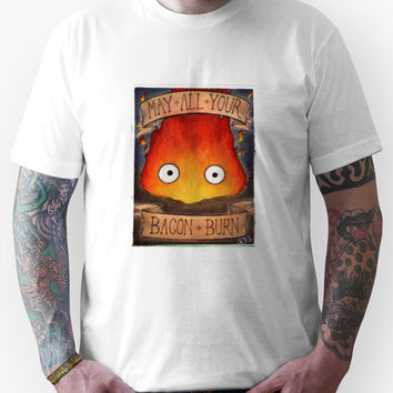 Howl's Moving Castle Illustration - CALCIFER Unisex T-Shirt
