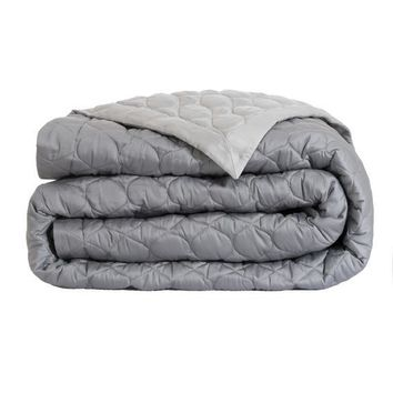 Montaigne Quilted Coverlet in Silver