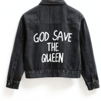 Save the Queen Denim Jacket