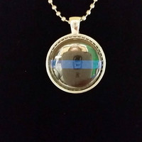 "Blue Line Police Support 1"" Pendant Necklace"