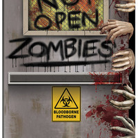 Party Supplies: Zombies Lab Door Cover