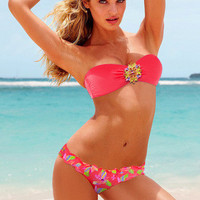 SIMPLE - VS Push Up Sexy Floral Printed Swimwear Bikini Set a10218
