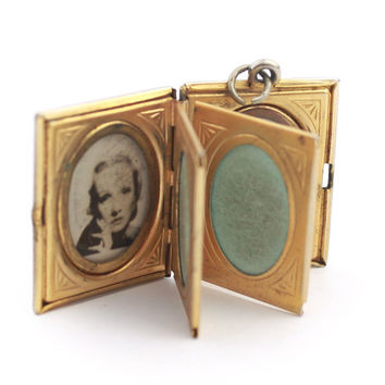 Vintage Six Page Book Locket