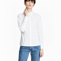 H&M Cotton Shirt with Lacing $39.99