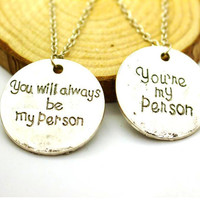 New Grey's Anatomy You're My Person Pendant Necklaces
