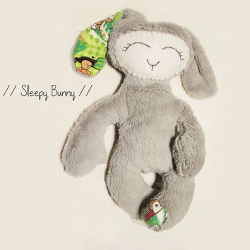 Stuffed BUNNY Sewing pattern, Soft Plush toy, Baby Nursery Decor, Fleece Animal, PDF tutorial Waldorf Toy